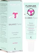 Düfte, Parfümerie und Kosmetik Korrigierende Nachtcreme für die T-Zone mit AHA- und PHA-Säuren - Floslek Balance T-Zone Corrective Cream