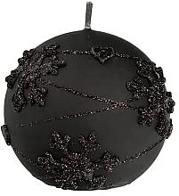 Düfte, Parfümerie und Kosmetik Dekorative Kerze in Kugelform schwarz 10 cm - Artman Snowflake Application