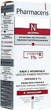 Düfte, Parfümerie und Kosmetik Gesichtscreme für empfindliche Haut mit erweiterten Kapillaren mit Vitamin K - Pharmaceris N Capinon K 1% Cream With Vitamin K