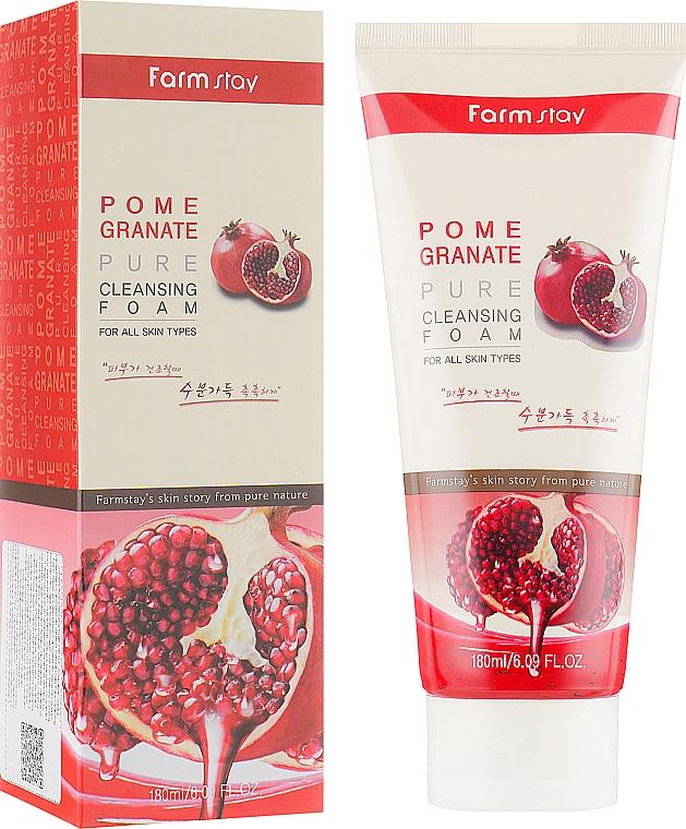 Gesichtsreinigungsschaum mit Granatapfelextrakt - Farmstay Pomegranate Pure Cleansing Foam