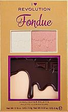 Düfte, Parfümerie und Kosmetik Highlighter-Palette - I Heart Makeup Revolution Highlighter Palette Chocolate Fondue