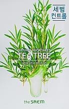Düfte, Parfümerie und Kosmetik Tuchmaske für feine Gesichtshaut mit Extrakt aus Teebaum - The Saem Natural Tea Tree Mask Sheet