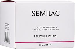 Düfte, Parfümerie und Kosmetik Zelletten zum Entfernen von Hybridlack - Semilac Remover Wraps