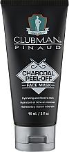 Düfte, Parfümerie und Kosmetik Reinigende schwarze Peel-Off- Gesichtsmaske mit Tonerde und Aktivkohle  - Clubman Pinaud Charcoal Peel-Off Face Mask