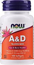Düfte, Parfümerie und Kosmetik Suplement diety Witaminy A i D - Now Foods A&D Eye & Bone Health