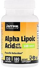 Düfte, Parfümerie und Kosmetik Nahrungsergänzungsmittel Alpha-Liponsäure mit Biotin 100 mg - Jarrow Formulas Alpha Lipoic Acid with Biotin 100 mg
