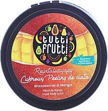 """Düfte, Parfümerie und Kosmetik Körperpeeling mit Zucker """"Pfirsich & Mango"""" - Farmona Tutti Frutti Sugar Scrub"""