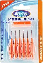 Düfte, Parfümerie und Kosmetik Interdentalzahnbürsten 0,45 mm 6 St. - Beauty Formulas Active Oral Care Interdental Brushes Orange