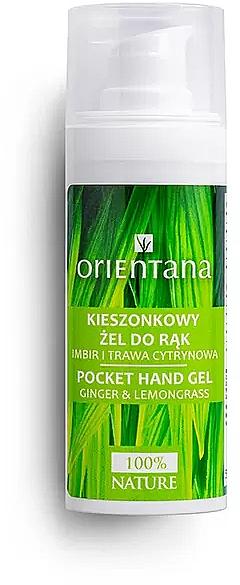 Antibakterielles Handgel mit Ingwer und Zitronengras - Orientana Pocket Hand Gel