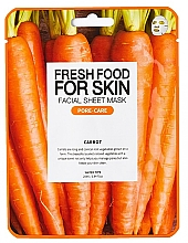 Düfte, Parfümerie und Kosmetik Beruhigende porenreinigende Tuchmaske mit Karottenextrakt gegen Entzündungen - Fresh Food For Skin Facial Sheet Mask Carrot Pore Care