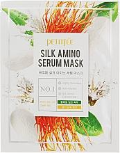 Düfte, Parfümerie und Kosmetik Aufhellende Gesichtsmaske mit Seidenproteinen - Petitfee&Koelf Silk Amino Serum Mask