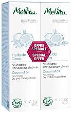 Düfte, Parfümerie und Kosmetik Haarpflegeset für trockenes und strapaziertes Haar mit Kokosnussöl - Melvita Huiles De Beaute Coconut Oil Duo (Kokosnussöl 2x50ml)