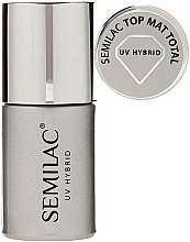 Düfte, Parfümerie und Kosmetik Top Nagellack mit Matt-Look - Semilac UV Hybrid Top Mat