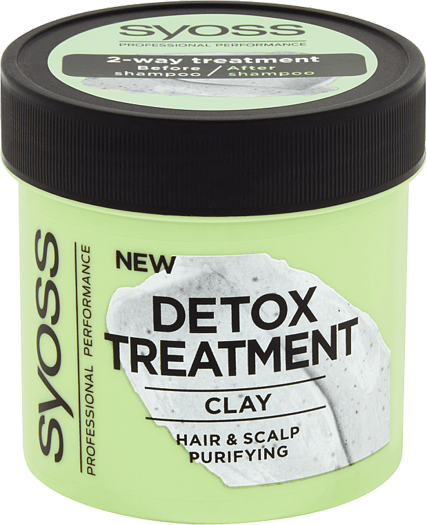 Entgiftende Haar- und Kopfhautmaske mit Tonerde - Syoss Detox Treatment Clay