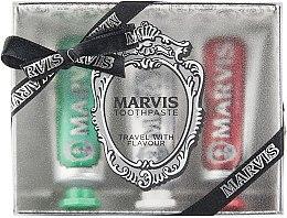 """Düfte, Parfümerie und Kosmetik Zahnpflegeset """"Travel With Flavour"""" - Marvis (Zahnpaste 3x25ml)"""