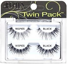 Düfte, Parfümerie und Kosmetik Künstliche Wimpern Set - Ardell Twin Pack Wispies Black