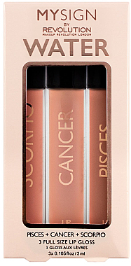 Lipgloss-Set - Makeup Revolution My Sign Lip Gloss Collection Air 3 ml
