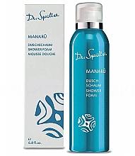 Düfte, Parfümerie und Kosmetik Feuchtigkeitsspendender und beruhigender Duschschaum mit Hibiskus, Monoi-Öl, weißer Orchidee und Panthenol - Dr. Spiller Manaru Shower Foam