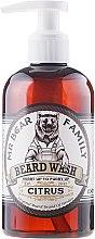 Düfte, Parfümerie und Kosmetik Sanftes Bartshampoo - Mr. Bear Family Beard Wash Citrus