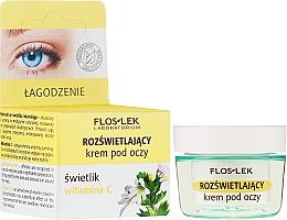 Düfte, Parfümerie und Kosmetik Aufhellende Augencreme mit Augentrost und Vatamin C - Floslek