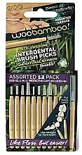 Düfte, Parfümerie und Kosmetik Interdentalzahnbürsten-Set Mini 12 St. - Woobamboo Toothbrush Interdental Brush Picks Assorted