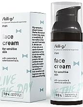 Düfte, Parfümerie und Kosmetik Feuchtigkeitsspendende Gesichtscreme mit Hyaluronsäure und Avocadoöl für Männer - Kili·g Man Day Cream