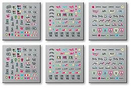 Düfte, Parfümerie und Kosmetik Set Dekorative Nagelsticker 6 St. 42300 - Top Choice Words Neon