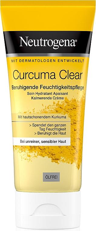 Feuchtigkeitsspendende und beruhigende Gesichtscreme mit Kurkuma - Neutrogena Curcuma Clear Cream