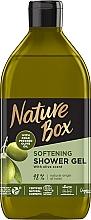 Düfte, Parfümerie und Kosmetik Aufweichendes Duschgel mit kaltgepresstem Olivenöl - Nature Box Softening Shower Gel With Cold Pressed Olive Oil