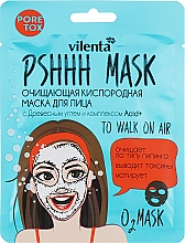 Düfte, Parfümerie und Kosmetik Reinigende Sauerstoff-Tuchmaske für das Gesicht mit Aktivkohle und Säurenkompex - Vilenta Pshhh Mask