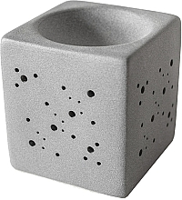 Düfte, Parfümerie und Kosmetik Aromalampe quadratisch grau - Flagolie By Paese Cube Fireplace Grey