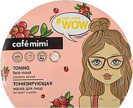Düfte, Parfümerie und Kosmetik Tonisierende Tuchmaske für das Gesicht mit Preiselbeerextrakt - Cafe Mimi Toning Face Mask Cranberry Extract