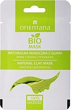 Düfte, Parfümerie und Kosmetik Natürliche Gesichtsmaske mit Tonerde, Ingwer und Zitronengras für Mischhaut - Orientana (Papierverpackung)