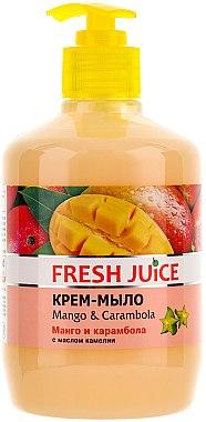 "Cremeseife mit Kamelienöl ""Mango & Karambole"" mit Spender - Fresh Juice Mango & Carambol"