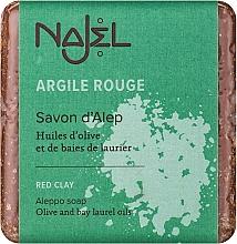 Düfte, Parfümerie und Kosmetik Aleppo-Peelingseife mit roter Tonerde für Gesicht und Hals - Najel Aleppo Soap with Red Clay