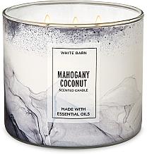 Düfte, Parfümerie und Kosmetik Bath and Body Works Mahogany Coconut 3-Wick Candle - Duftkerze Mahogany Coconut
