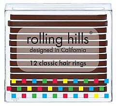 Düfte, Parfümerie und Kosmetik Haargummis braun - Rolling Hills Classic Hair Rings Brown