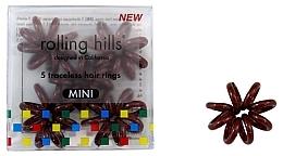 Düfte, Parfümerie und Kosmetik Spiral-Haargummis mini 5 St. braun - Rolling Hills 5 Traceless Hair Rings Mini Brown