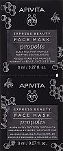 Düfte, Parfümerie und Kosmetik Seboregulierende und tiefenreinigende schwarze Gesichtsmaske mit Propolis - Apivita Express Beauty Purifying & Oil-Balancing Propolis Black Face Mask