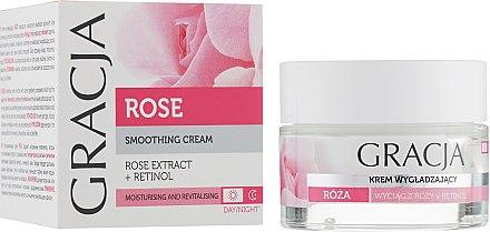 Gesichtscreme mit Rosenextrakt und Retinol für Tag und Nacht - Miraculum Gracja Rose Face Cream