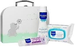 Düfte, Parfümerie und Kosmetik Körperpflegeset für Babys - Mustela With Love (Gesichtsreinigungstücher 25 St. + Reinigungsgel für Babys 200ml + Windelcreme 50ml + Kosmetiktasche)
