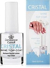 Düfte, Parfümerie und Kosmetik Glänzender Nagelüberlack mit UV-Filter - Constance Carroll Cristal Shine Top Coat