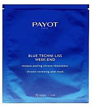 Düfte, Parfümerie und Kosmetik Glättende Peeling-Tuchmaske mit Glykolsäure und blauem Mönchspfeffer - Payot Blue Techni Liss Week-End