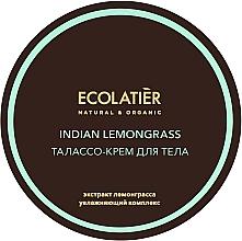 Düfte, Parfümerie und Kosmetik Intensiv feuchtigkeitsspendende Körpercreme mit Algen und Zitronengrasextrakt - Ecolatier Indian Lemongrass Body Thalasso Cream