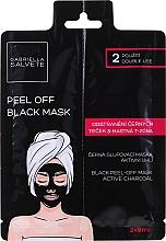 Düfte, Parfümerie und Kosmetik Schwarze Peel-Off Gesichtsmaske mit Bambuskohle, Pflanzenextrakten, Algenextrakten, Aloe Vera und Hyaluronsäure - Gabriella Salvete Black Peel-Off Mask