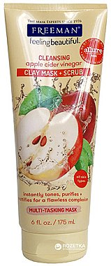 Reinigende Peelingmaske für das Gesicht mit Apfelessig - Freeman Feeling Beautiful 4-in-1 Apple Cider Vinegar Foaming Clay