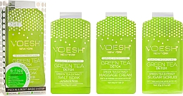 Düfte, Parfümerie und Kosmetik 3-stufige Fußpflege mit grünem Tee - Voesh Pedi In A Box 3 In 1 Deluxe Pedicure Green Tea (35 g)