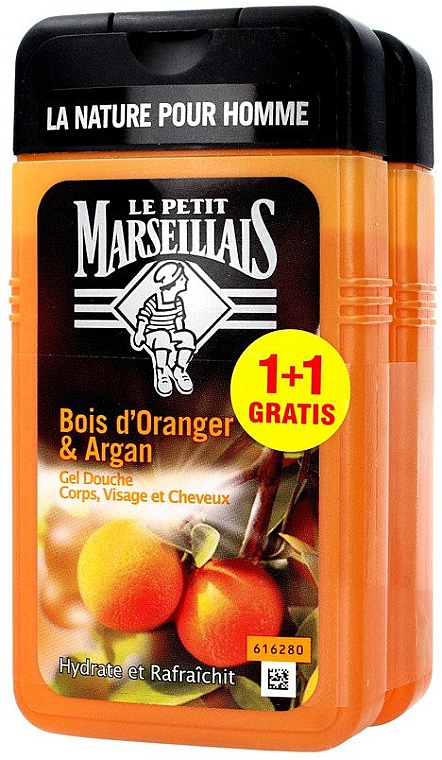 Haarpflegeset - Le Petit Marseillais Orange Tree and Argan Shampoo Shower Gel (Shampoo und Duschgel 2x250ml)