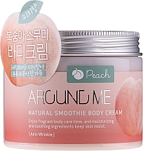 Düfte, Parfümerie und Kosmetik Körpercreme Pfirsich - Welcos Around Me Natural Body Smoothie Cream Peach
