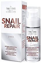 Düfte, Parfümerie und Kosmetik Aktiv verjüngendes Gesichtskonzentrat mit Schneckenschleim - Farmona Professional Snail Repair Active Rejuvenating Concentrate With Snail Mucus